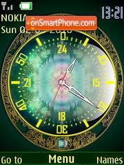 Magic Green SWF Clock theme screenshot