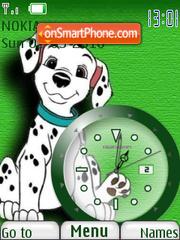 101 Dalmatians Clock es el tema de pantalla