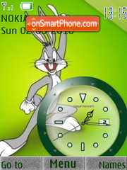 Bugs Bunny2 Clock theme screenshot