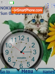 Cute Cat Clock theme screenshot