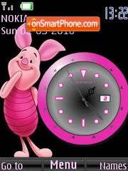 Piglet Clock tema screenshot