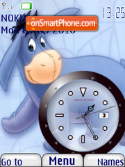 Eeyore Clock theme screenshot