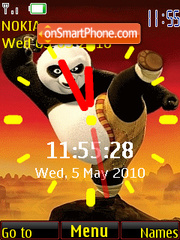 KungFu Panda Clock theme screenshot