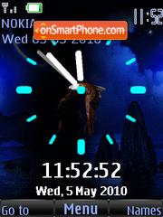 Flying Eagle Clock theme screenshot