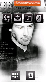 Keanu Reeves theme screenshot