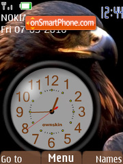 Black Eagle Clock theme screenshot