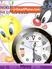 Baby Tweety Clock theme screenshot
