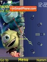 Monsters Inc Clock theme screenshot