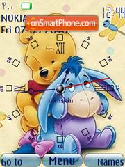 Pooh n Eeyore Clock theme screenshot