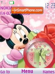 Minnie Baby Clock theme screenshot