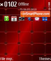 Orbs Red 01 es el tema de pantalla
