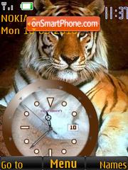 Tiger Clock theme screenshot