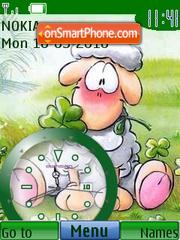 Diddle Sheep Clock theme screenshot