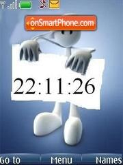 Banner clock es el tema de pantalla