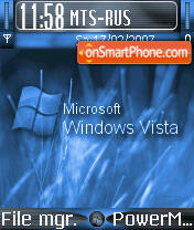 Vista Blue theme screenshot