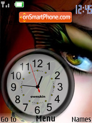 Ojo Clock es el tema de pantalla