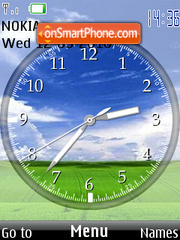 Pradera hermosa Clock theme screenshot