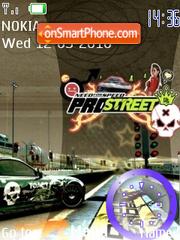 NFS Prostreet Clock theme screenshot