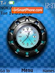 Super Star Clock theme screenshot