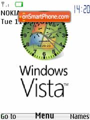 Vista classic Clock es el tema de pantalla
