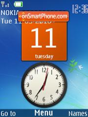 Windows 7 SWF Clock theme screenshot