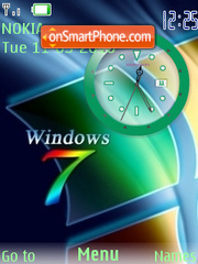 Windows 7 Clock es el tema de pantalla
