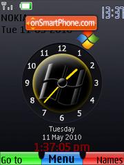 Windows SWF Clock es el tema de pantalla