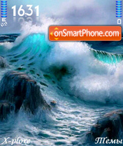 Angry Ocean theme screenshot