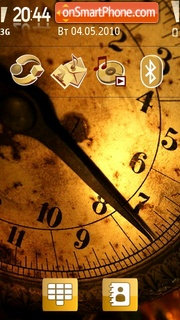 Golden Clock 02 theme screenshot