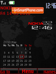 Carbon Clock theme screenshot