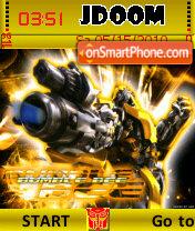 Bumblebee yellow es el tema de pantalla