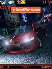 Red car ton theme screenshot