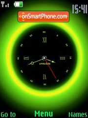 Swf green clock theme screenshot