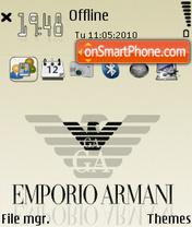 Armani 06 es el tema de pantalla