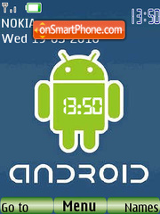 Android 2.0 SWF Clock theme screenshot