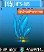 Vista Blue Grass es el tema de pantalla