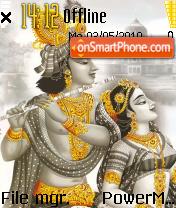 Radhakrishna theme screenshot