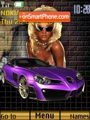 Girl and auto es el tema de pantalla