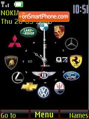 Reloj marcas es el tema de pantalla