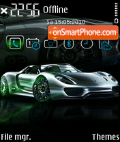 Porsche 918 FP1 theme screenshot