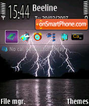 Lightning es el tema de pantalla