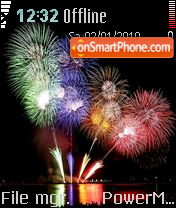 Fireworks 02 es el tema de pantalla