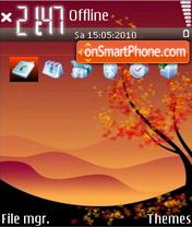 Autumn 09 es el tema de pantalla