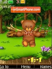 Bears on walk clock theme screenshot