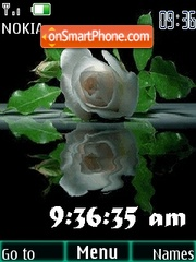 Animated rose clock theme screenshot