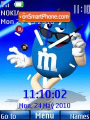 M n Ms Clock theme screenshot
