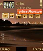 Night Beach 01 es el tema de pantalla