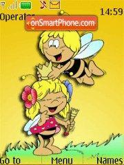 Maya Honey Bee theme screenshot