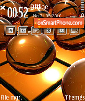 Orange ball tema screenshot