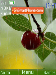 Raindrops on the cherry(swf 2.0) es el tema de pantalla
